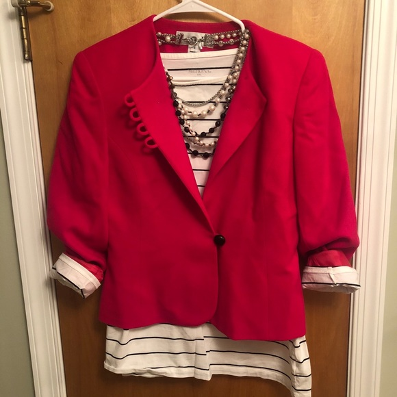 Flawless Vintage Dior✨Red Blazer